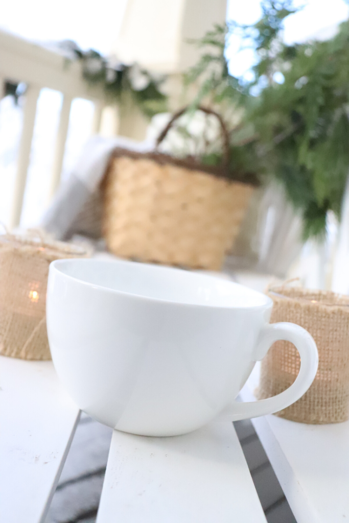 winter ideas, coffee on the porch