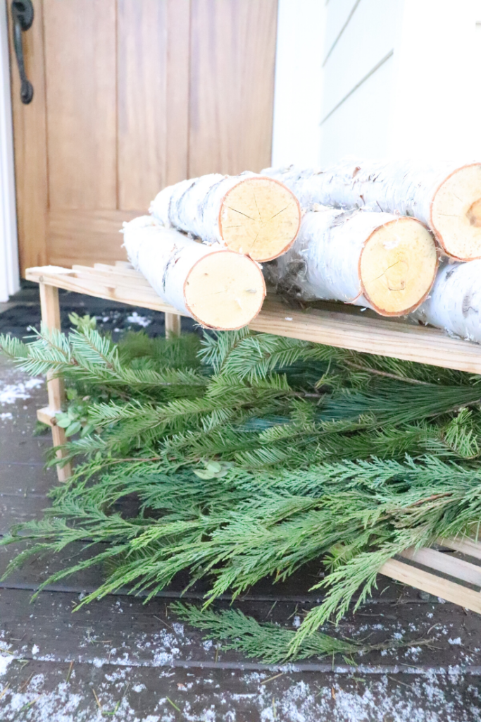 logs and greenery natural elements for home decor