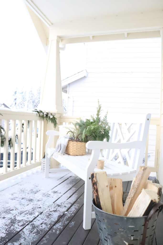 simple front porch ideas for the winter
