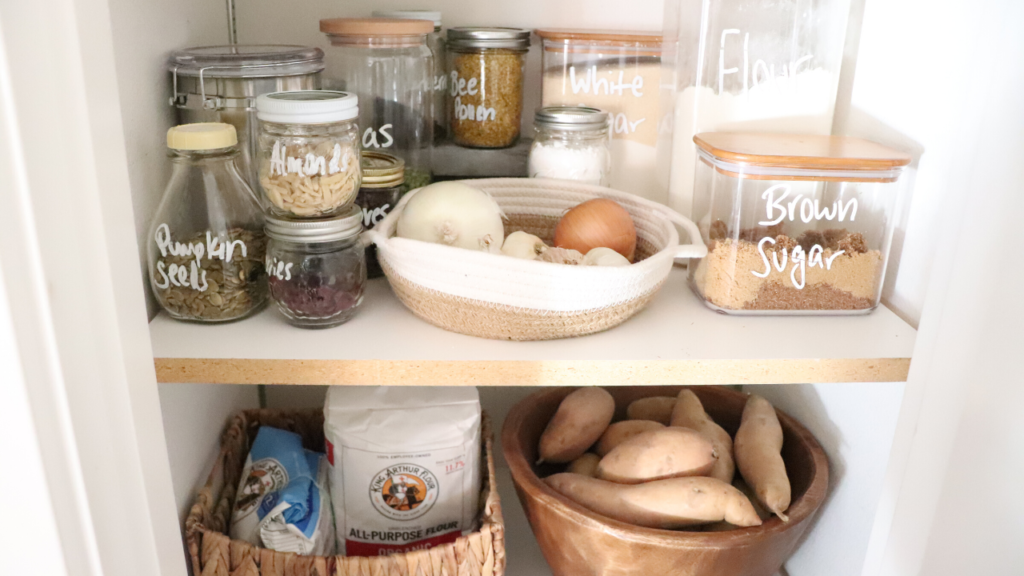 How We Organize The Pantry At The Homestead Simple Pantry Organization The Duvall Homestead