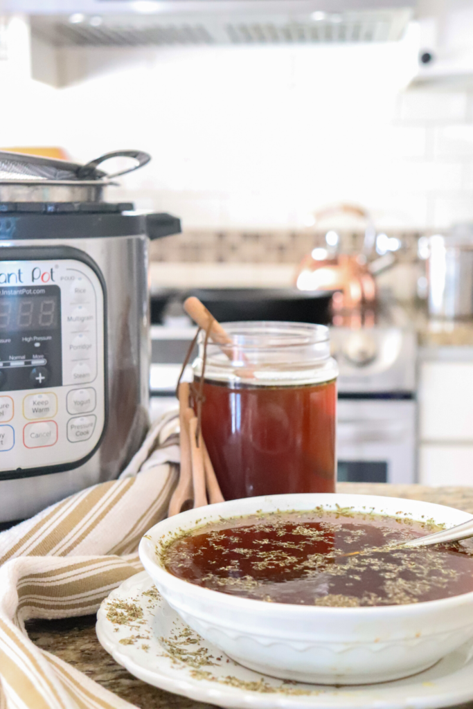 Learn how to make bone broth two ways! For the best juicy and savory stovetop and instant pot drinkable bone broth recipe, go to www.theduvallhomestead.com/bone-broth   Thanks for stopping by the homestead!