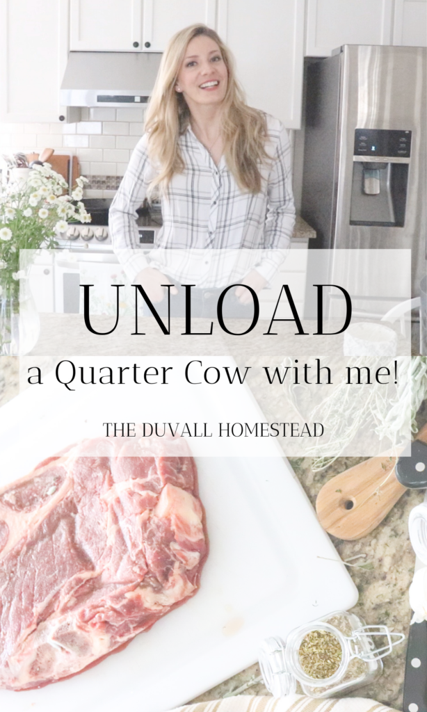 What happens when you order a quarter cow? Come do a quarter cow unload with me - grass fed beef straight from the farmer!  #grassfed #organic #beef #stew #potroast #recipes #farmer #local #meat #pastureraised #healthy #dinner #meal #ideas #recipes