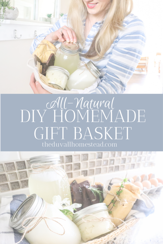 5 All-Natural DIY homemade git basket ideas for your mother, best friend, or even yourself!   #homestead #farmhouse #diy #giftbasket
