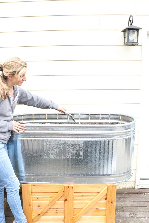 1-galvanized-horse-trough-planter-box-spring-farmhouse-inspiration-garden-veggie-ideas-homemade-DIY-easy-simple-homestead