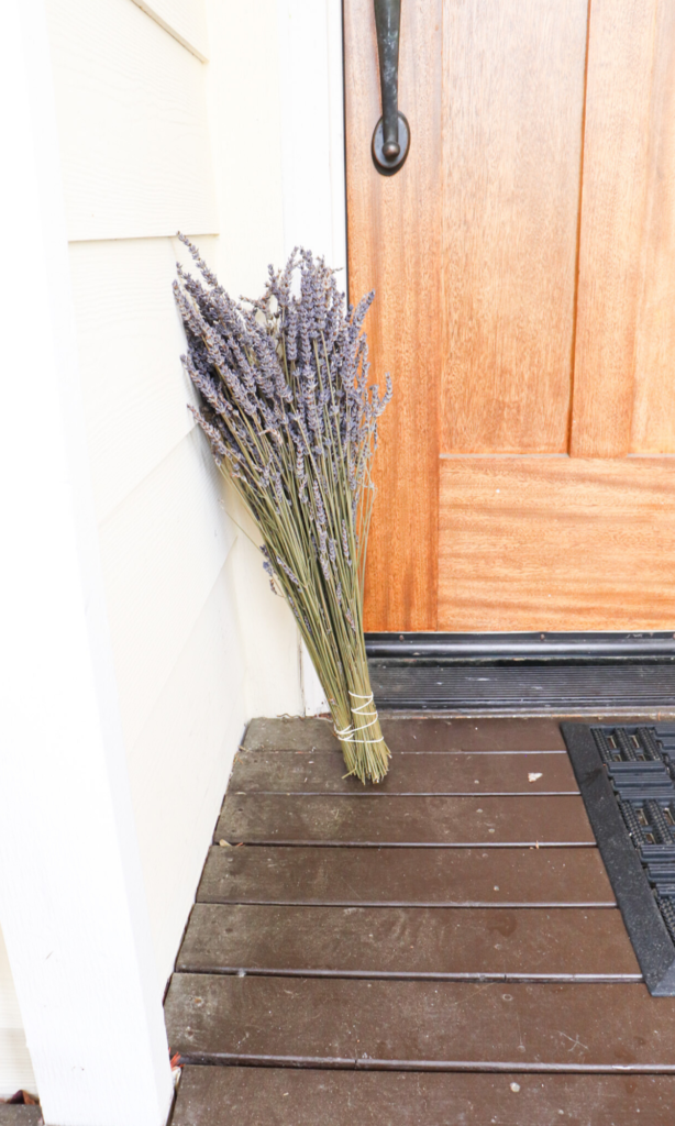 lavender by the front door