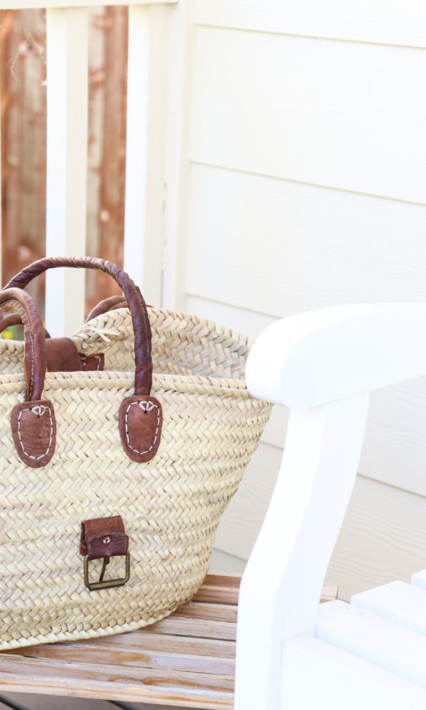 Woven basket on the porch  #basket
