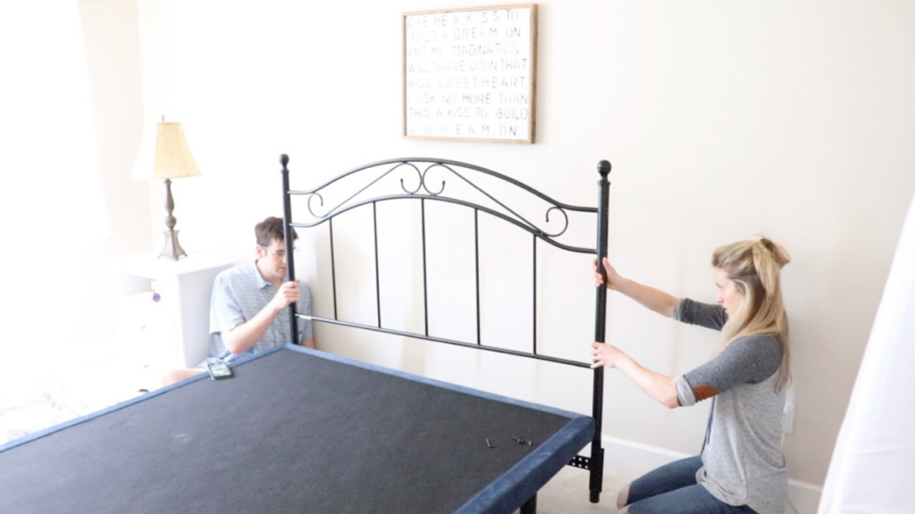 How to install a headboard into an existing bedframe