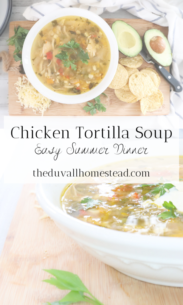 Easy Instant Pot Summer Dinner Idea - Chicken Tortilla Soup. Get all the tastes from a fresh chicken taco into this healthy and delicious soup made with bone broth. A favorite on our summer dinner table!   #soup #chicken #tortilla #instantpot #healthy #mealideas #dinnerideas #easy #simple #bonebroth #food #foodie #instantpotdinnerideas #avocado #summermealideas #dinner #familymealideas #kidfriendlysoup