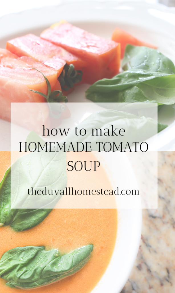 Simple healthy and delicious tomato soup with basil. Made with bone broth and cream, this soup hits the spot for lunch and dinner all year long.   #tomatosoup #basil #creamy #simply #healthy #bonebroth #tomato #soup #lunch #dinner #recipes #food #foodshare #recipeshare #foodie #homemade #fromscratch #basil #dutchoven