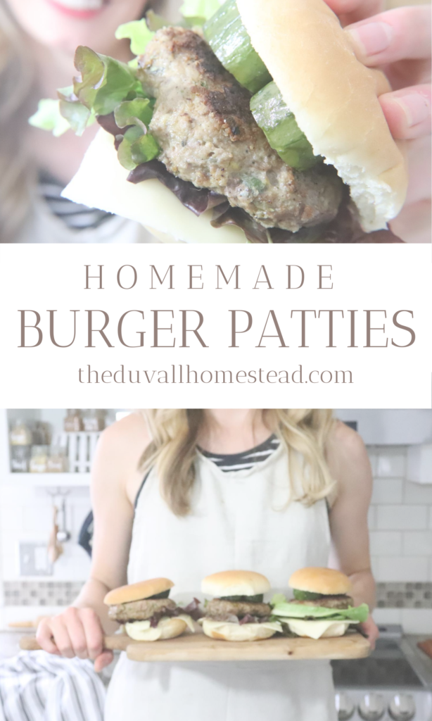 HOMEMADE BURGER PATTIES & SAUCE. Learn to make these easy juicy burgers with beef, salmon, lamb, or even bison. Recipes included for homemade sauce too!   #homemade #burgerpatties #hamburger #howtomakeaburgerpatty #homemadeburgerpatties #patty #lamb #beef #bison #salmon