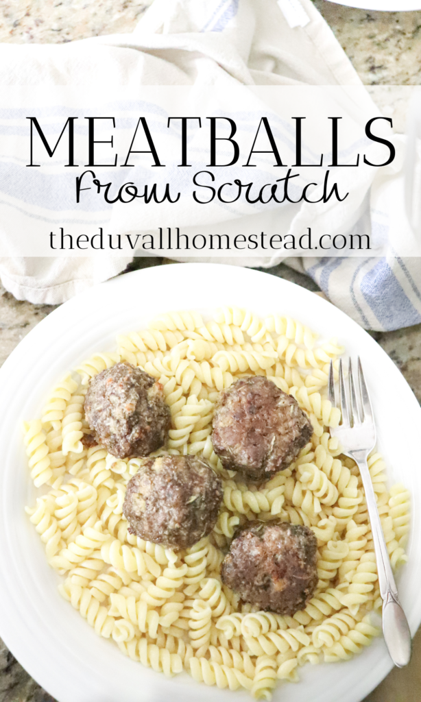 Meatball Recipe from scratch for pastas, chili, and more.   It is so important for me to cook homemade, from scratch meals for us every single night. That's one of the reasons I came up with this homemade meatball recipe, so I could provide more variation using ground meats.   #meatballs #meatballrecipe #fromscratch #howtomakemeatballs #pasta #beef #homemade #healthy #cooking #dinner #food #foodie #bestrecipes #recipes #familyrecipes #healthydinnerideas #dinnerideas #partyrecipes