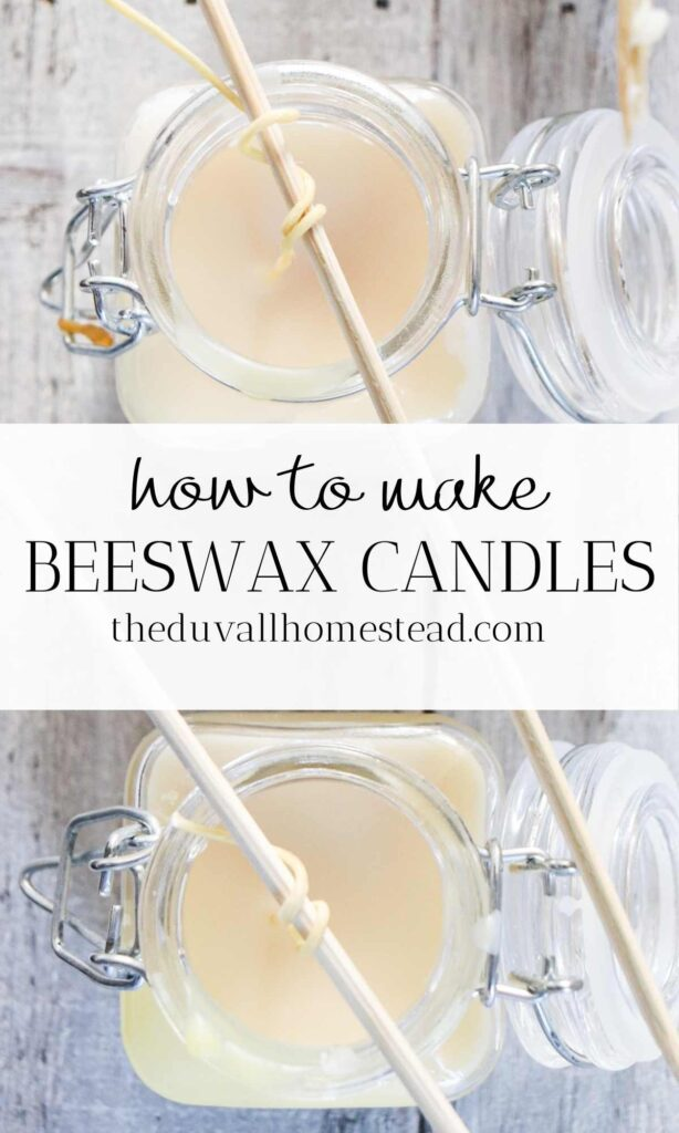Learn how to make beeswax candles that are naturally scented with essential oils. These candles make a great homemade gift idea and will save you money too!  #homemadecandles #beeswaxcandles #howtomakecandles #beeswax #candles #candlemaking #farmhouse #homedecor #homemadegiftidea #giftideas #giftideasformom #giftideasforsister #giftideasforgirlfriend #essentialoils #candleswithessentialoils #naturallyscented #allnatural #pure