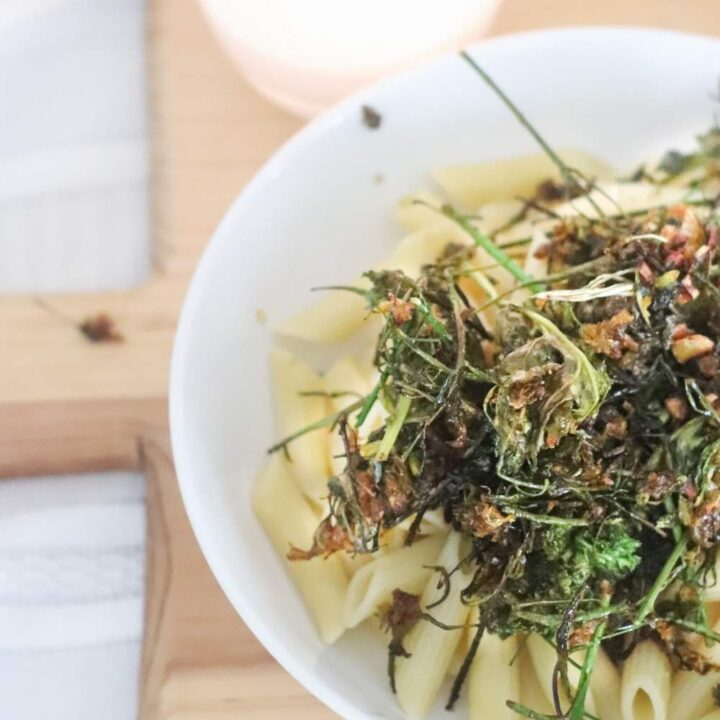 how to cook kale flowers vegetable pasta healthy dinner recipe with kale