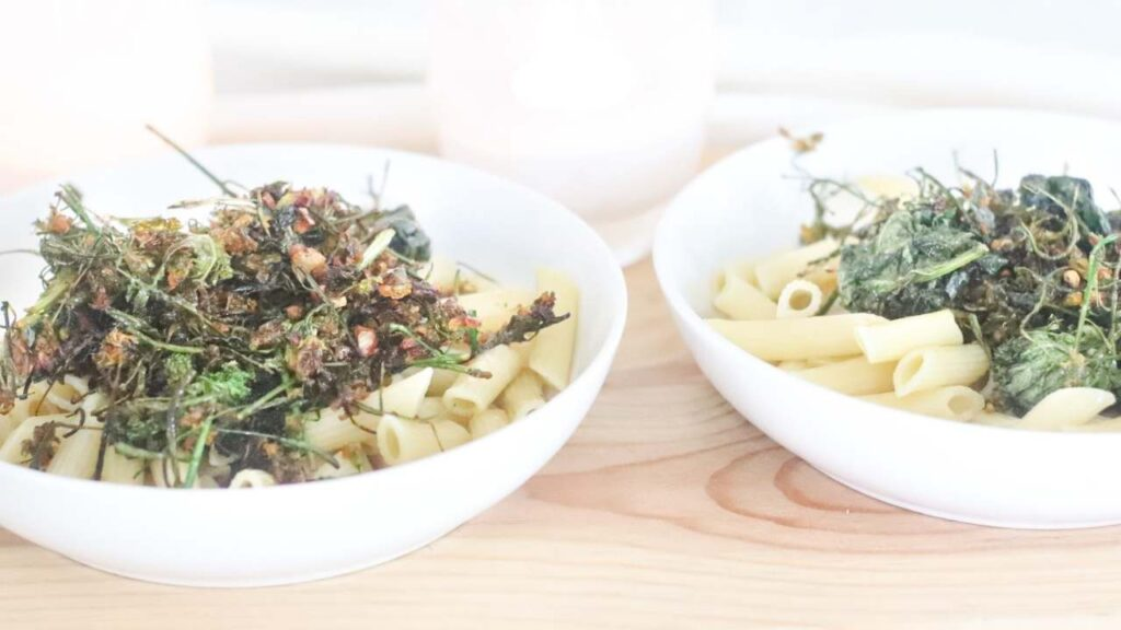 How to cook kale flowers + creamy summer kale pasta recipe