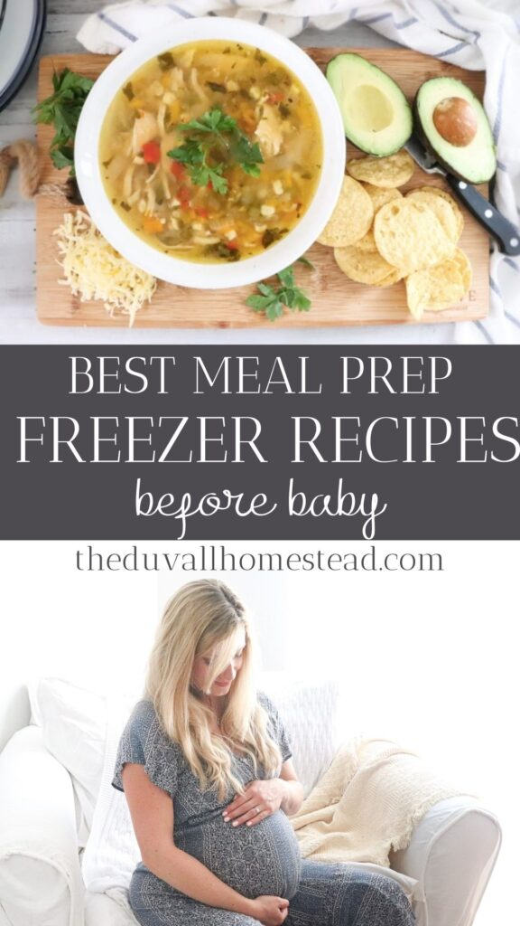 Make delicious and hearty meals to nourish you and your baby after your baby is born with these 5 freezer prep meal ideas. I don't know what I would have done this week after giving birth to our first baby at home, if I hadn't done this meal prep. These recipes can also be enjoyed any time, not just after a baby is born!   #freezerrecipes #mealprep #mealpreprecipes #freezermealideas #freezermealprep #homebirth #recipes #healthy #hearty #soups #mealsthatfreeze #delicious #foodie #birthfood #birth #mealprepbeforebaby #postpartum #postpartumrecipes