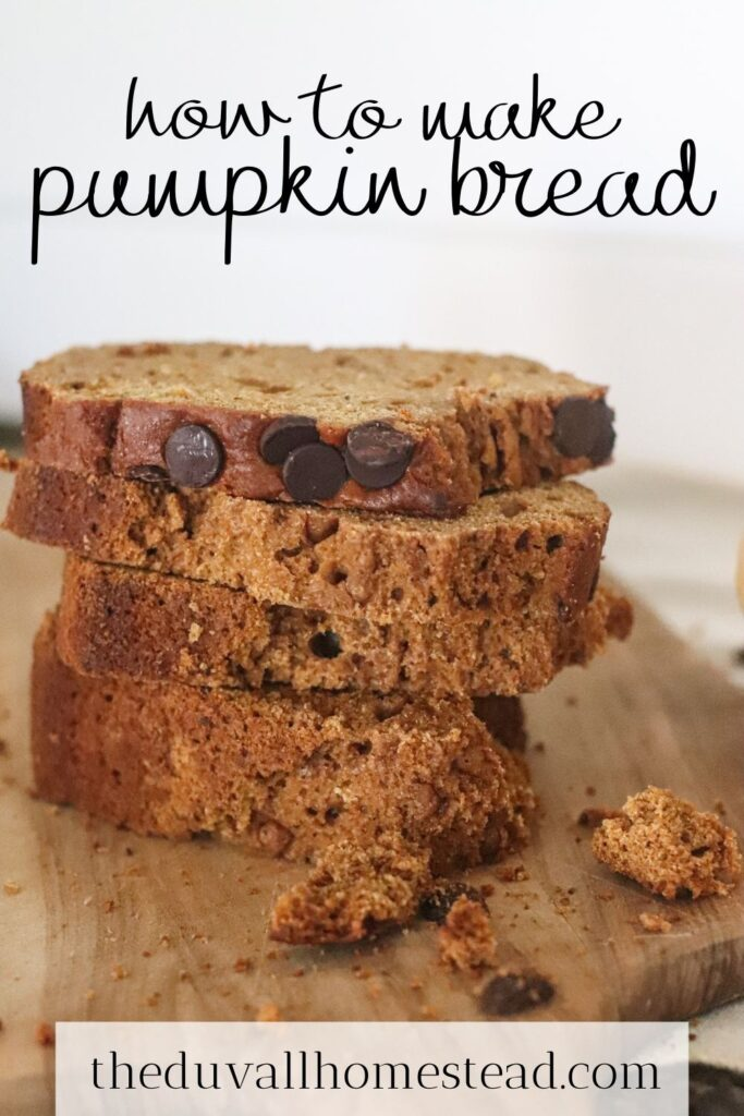 This simple pumpkin bread recipe uses a fresh pumpkin and tastes like a slice of fall with notes of cinnamon, honey, nutmeg, and maple.  #pumpkinbread #freshpumpkin #healthy #howtomakepumpkinbread #fallrecipes